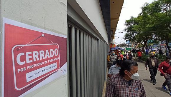 Cierran agencia de Banco de la Nacion de Miraflores