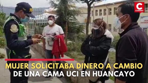 Junín: Policía interviene a mujer que solicitaba dinero a cambio de una cama UCI | CORREO