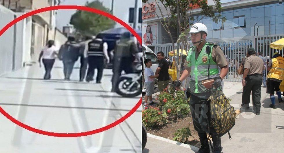 El preciso momento en que el escolar autor del disparo es llevado por la Policía (VIDEO)