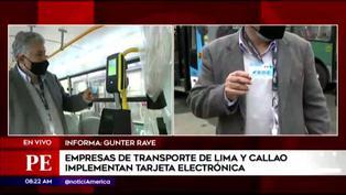 Cinco empresas de transporte público de Lima y Callao implementan pago de pasajes mediante tarjeta electrónica