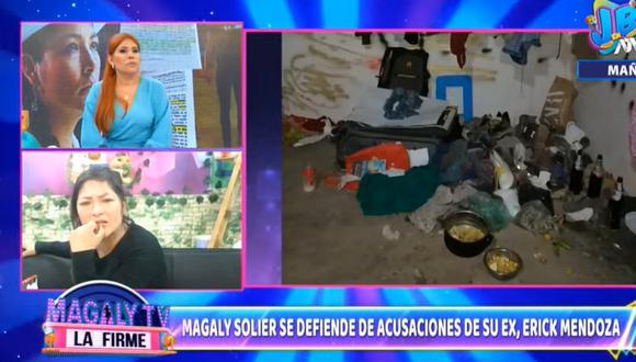 Magaly tuvo que cortar la entrevista, ya que Solir no se encontraba del todo bien para responder las preguntas sobre la denuncia que le entabló su expareja.