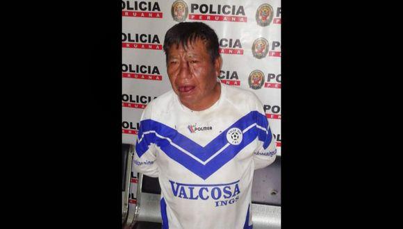 Puno: el sujeto fue intervenido por agentes policiales de la comisaría Santa Bárbara, en Juliaca.