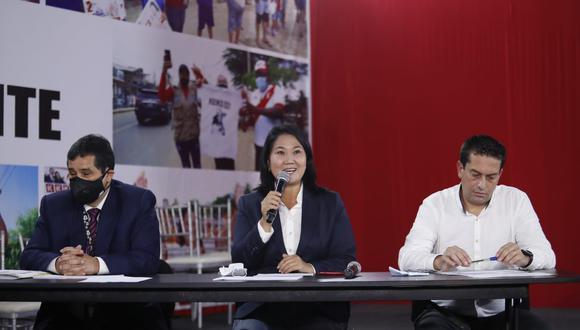Conferencia de prensa de la candidata a la presidencia por Fuerza Popular, Keiko fujimori. Foto: Hugo Perez / @photo.gec