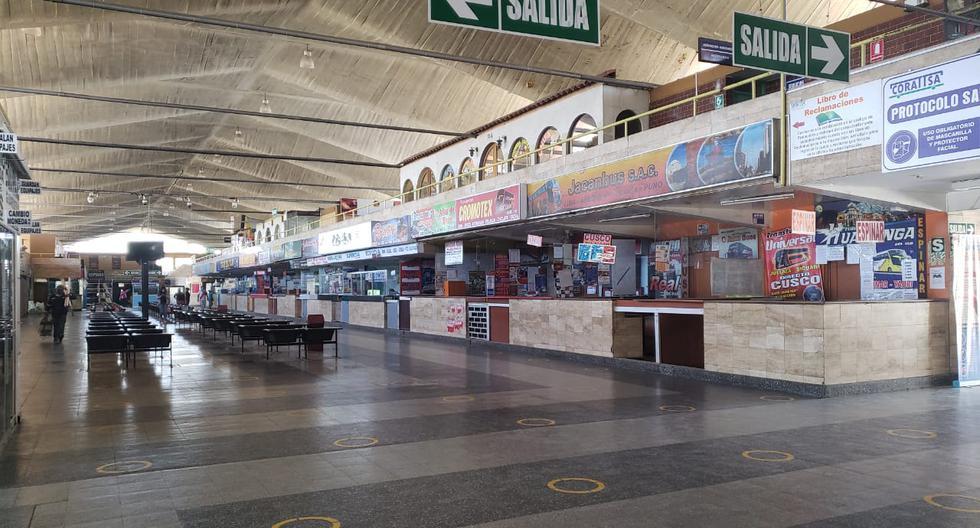 Terminal terrestre de Arequipa luce vacío, pese a levantarse la cuarentena focalizada