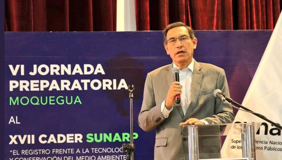 Martín Vizcarra espera llegar a un consenso con las fuerzas políticas