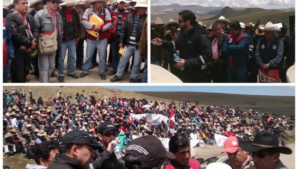 Cusco: Se instala mesa de diálogo en medio de paro antiminero en Velille