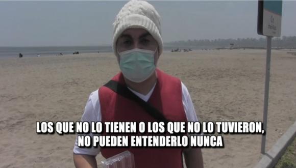 Andrés Hurtado tras finalizar sus terapias para superar las secuelas que le dejó el coronavirus. | Foto: Magaly TV: La Firme.