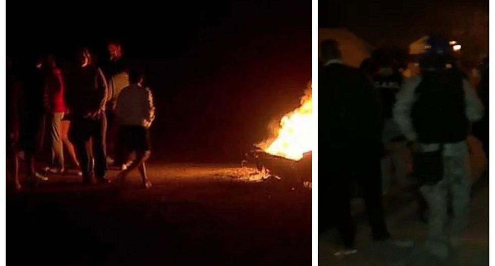 Vecinos de menor abusada intentan atacar casa de presunto agresor y se enfrentan a la policía (VIDEO)