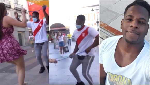 Peruano Juan Diego 'Timbera' causa furor en calles de Madrid al mostrar cómo se baila la salsa con distancia social