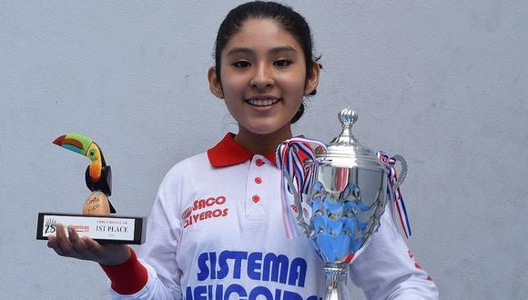 Fiorella Contreras Huamán ganó la medalla de oro en los Panamericanos de la Juventud. (Foto: Trome)