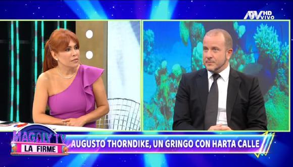 """Augusto Thorndike se presentó en el programa de Magaly Medina y se refirió a su salida de """"Cuarto Poder"""". (Foto: Captura ATV)"""