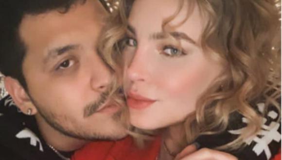 Christian Nodal molestó a Belinda al interrumpir una grabación que hacia para redes sociales. (Instagram: @nodal)
