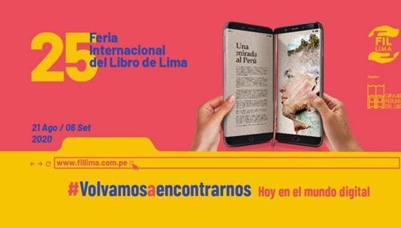 Comenzó la edición virtual de la Feria Internacional del Libro de Lima (FIL Lima 2020). Será hasta el 3 de setiembre (Foto: Facebook)