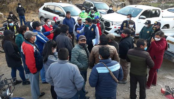 Los sospechosos se encuentran retenidos en el local de las Rondas Campesinas de Coasa. (Foto: Difusión)
