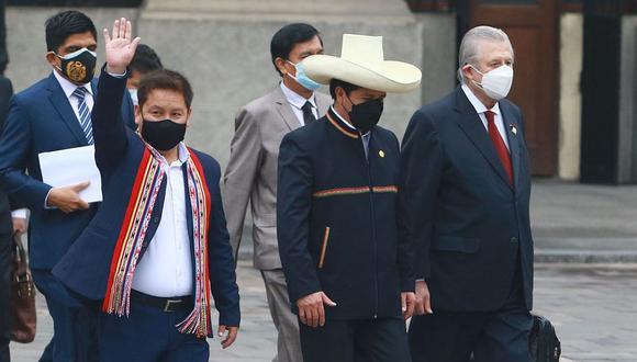 Guido Bellido pidió que Perú Libre exija la renuncia de Óscar Maúrtua. (Foto: Andina)
