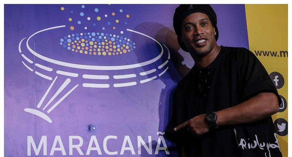 Ronaldinho fue homenajeado en el Maracaná y ahora forma parte de su paseo de la fama (FOTOS)