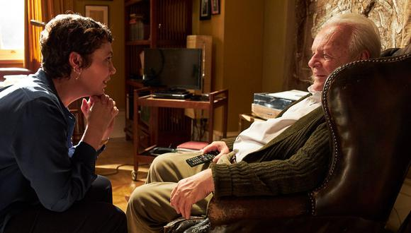 """Anthony Hopkins y Olivia Colman en una escena de """"El Padre"""". (Foto: Sony Pictures)"""