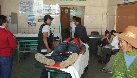 Motociclista quedó herido al chocar con patrullero