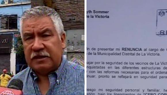 La Victoria: Gerente de Seguridad Ciudadana renuncia y acusa a Forsyth de actos de corrupción