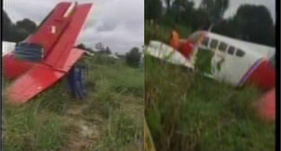 Avioneta se estrella al aterrizar de emergencia en Loreto