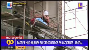 Padre e hijo mueren electrocutados cuando tarrajeaban vivienda en Comas