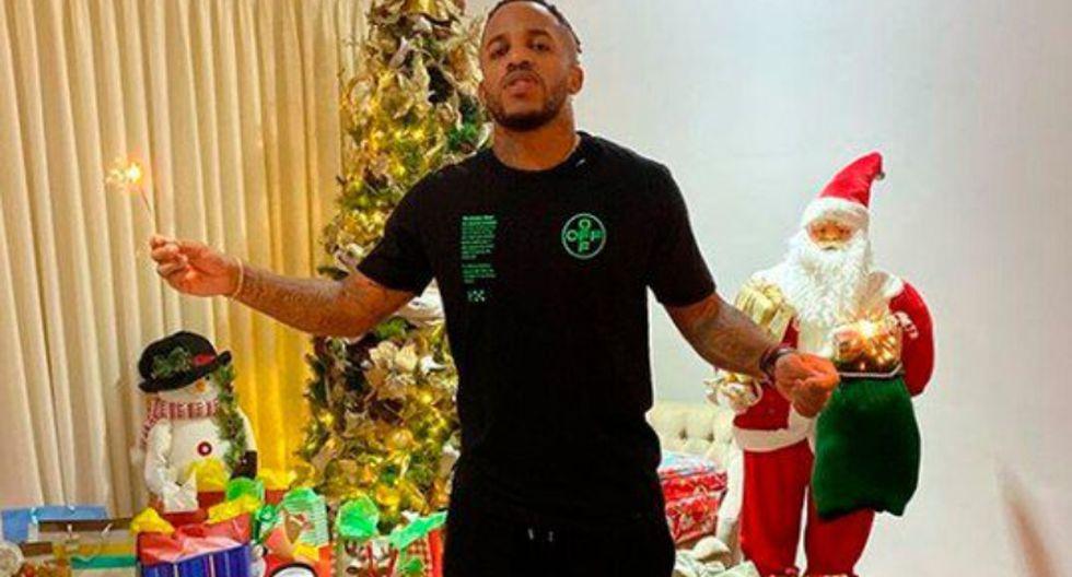 Jefferson Farfán pasó Navidad con sus hijos