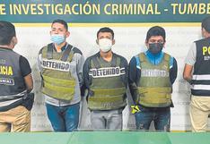 Tumbes: Caen tres hombres con revólver y droga