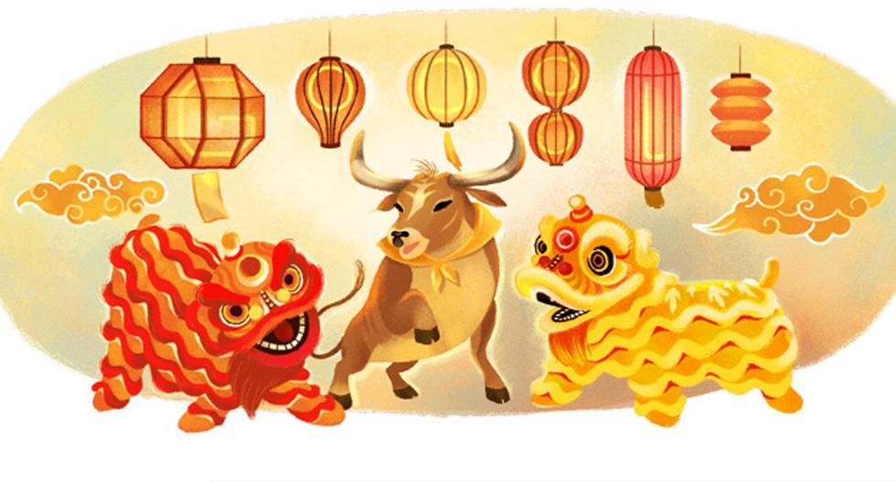 Este doodle nos recuerda que el Año Nuevo Chino es un momento para honrar a los antepasados y esperar la prosperidad en el próximo año. (Foto: Google)