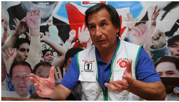 """Mario Canzio: """"""""Cerrón y Santos no se unieron al Frente Amplio porque pusieron condiciones"""""""""""