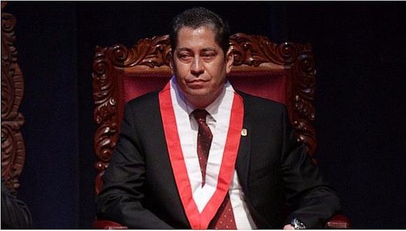 Eloy Espinosa-Saldaña negó que marcará la pauta en el Tribunal Constitucional.