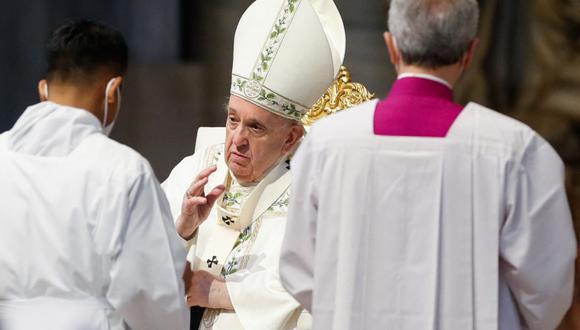 """Jorge Bergoglio dijo que """"el odio y la violencia creciente que está afectando varias ciudades en Israel es una herida grave a la fraternidad"""". (REMO CASILLI / POOL / AFP)"""