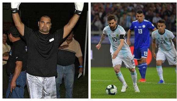 José Luis Chilavert y la imagen con la que se burló de la selección argentina (FOTO)