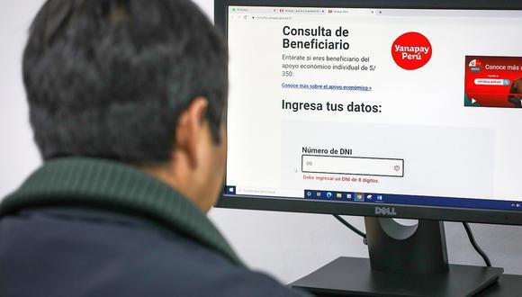 El Bono Yanapay Perú será entregado a más de 13 millones de personas. (Foto: GEC)