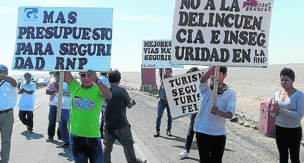 Transportistas y operadores turísticos protestan por aumento de inseguridad