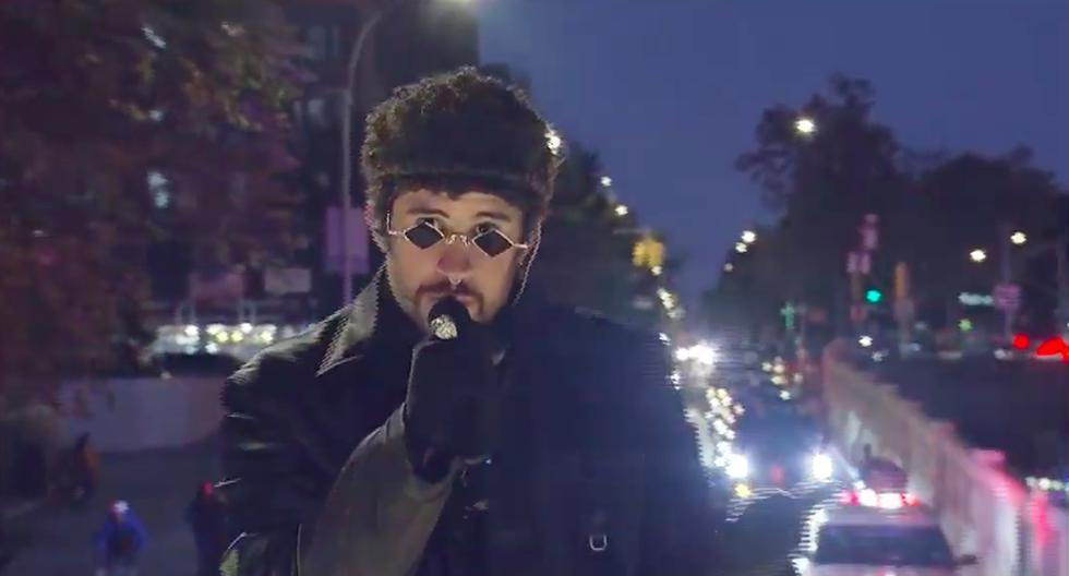Bad Bunny realizó concierto sobre un camión en las principales avenidas de Nueva York