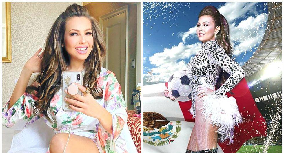 Thalía causa furor en Instagram al posar en bikini a sus 46 años (FOTOS)