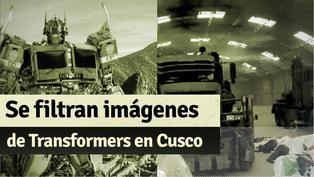 Se filtran imágenes de Transformers en Cusco