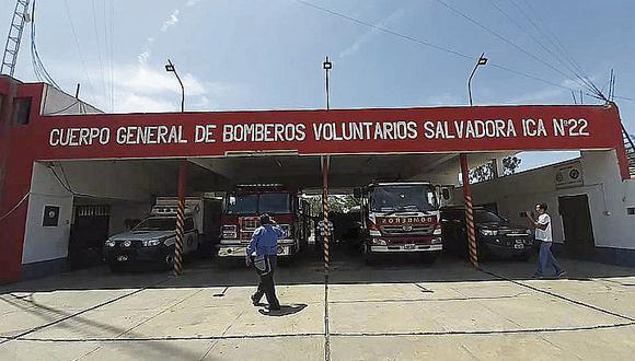 Bomberos de Ica se quedan sin combustible por recorte de presupuesto