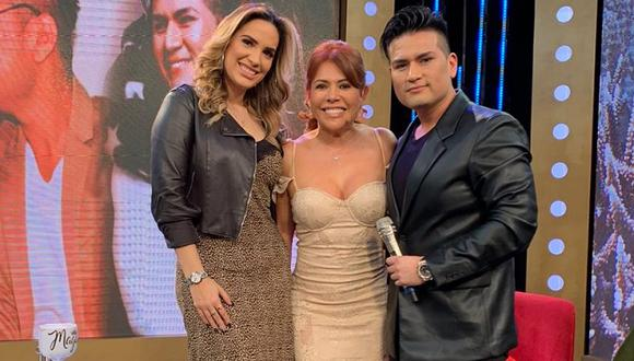 Magaly Medina felicita a Deyvis Orosco y Cassandra Sánchez tras anunciar que serán padres. (Foto: @magalymedinav)