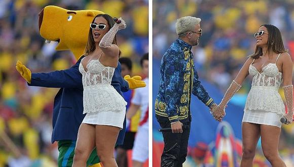 Los cantantes Pedro Capó y Annita estuvieron en la clausura de la Copa América  (FOTOS)