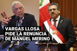 Mario Vargas LLosa pidió la renuncia del presidente Manuel Merino al Congreso de la República