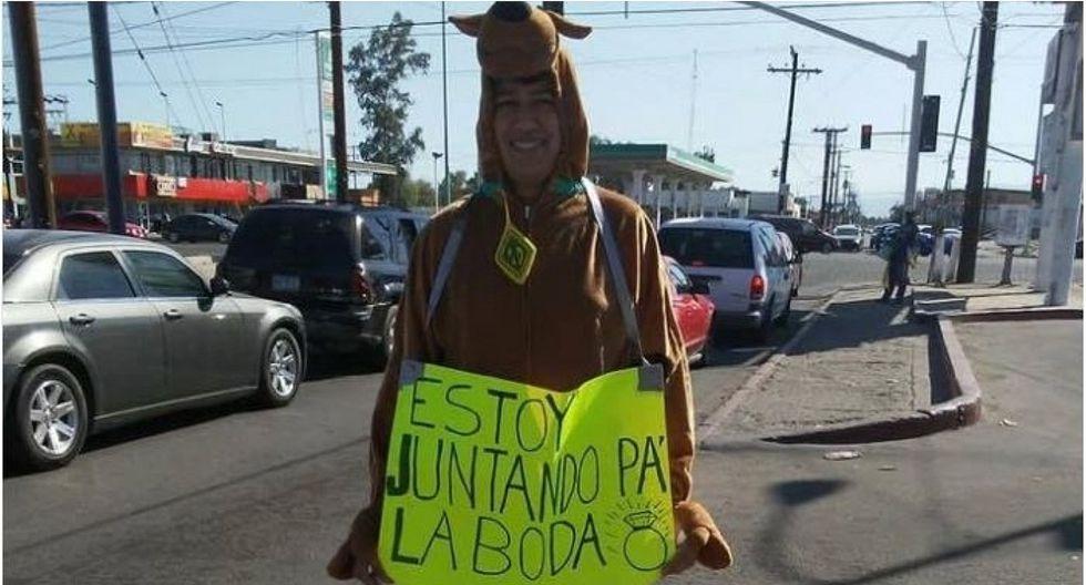 Mexicano se disfraza de Scooby Doo y consigue boda gratis tras hacerse viral  (VIDEO)
