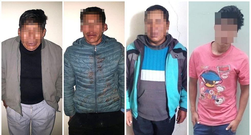 Cuatro hombres detenidos por golpear a sus parejas en Cusco (FOTOS)