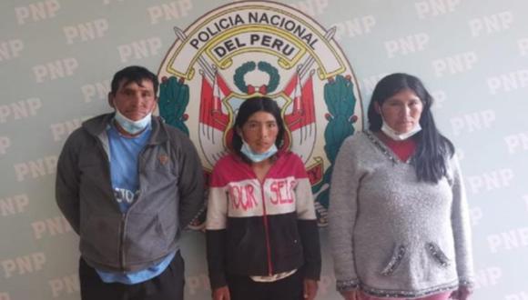 Detienen a cuatro integrantes de una familia implicados en la muerte de un policía en Cañete. (Foto Fernando Zavala)