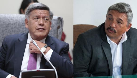 César Acuña, presidente de Alianza para el Progreso (APP) y Alberto Beingolea, presidente del Partido Popular Cristiano (PPC).
