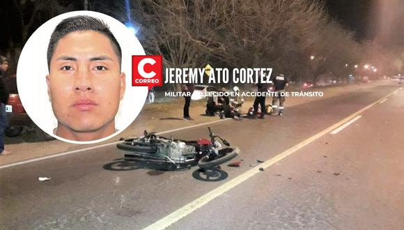 El accidente ocurrió a las tres de la madrugada, cuando el suboficial iba manejando su motocicleta.