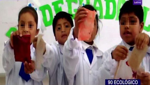 Alumnos elaboran bolsas biodegradables con almidón de papa