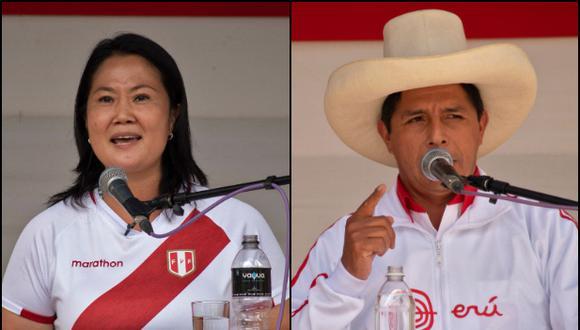 Los debates organizados por el JNE serán dos y participarán Pedro Castillo y Keiko Fujimori. (Foto: Archivo AFP/ César Bazán)