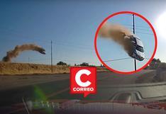 El relato del estrepitoso choque de un auto en la autopista tras ser catapultado y salir volando por los aires
