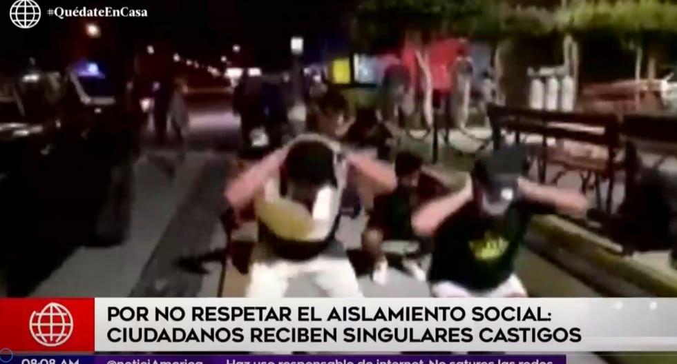 A nivel nacional, se han detenido más de 26 mil ciudadanos por no respetar el aislamiento social obligatorio. (Foto captura: América Noticias)